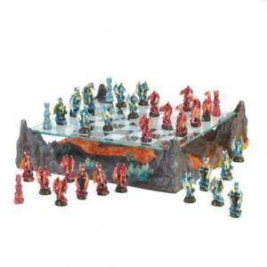 Image of Fire River Dragon Chess Set