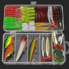 Multi Fishing Lure Tackle Box - Complex Lures 58pcs - QuantumBitz