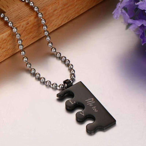Couples Black and Gold Necklace - QuantumBitz