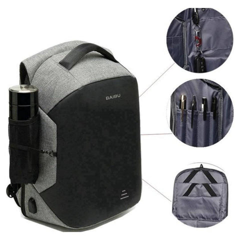Anti-Theft Backpack USB Charger