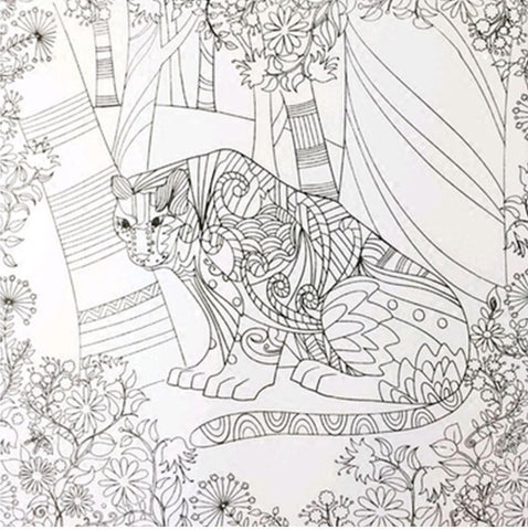 Coloring Book 'Enchanted Forest' - QuantumBitz