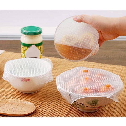 Image of  Silicone Wrap Seal Vacuum Food Wrap Multifunctional Food Fresh Kitchen Tools