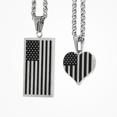 Image of American Flag Necklace