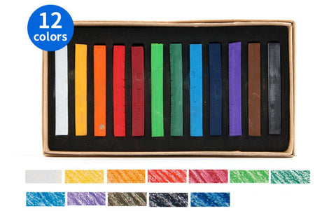 12 Color Soft Pastel Crayon Set - QuantumBitz Marie's Painting Crayons Soft Pastel12/24/36/48 Colors/Set Art Drawing Set Chalk Color Crayon Brush Stationery for Students