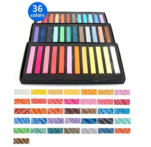 36 Color Soft Pastel Crayon Set - QuantumBitz Marie's Painting Crayons Soft Pastel12/24/36/48 Colors/Set Art Drawing Set Chalk Color Crayon Brush Stationery for Students