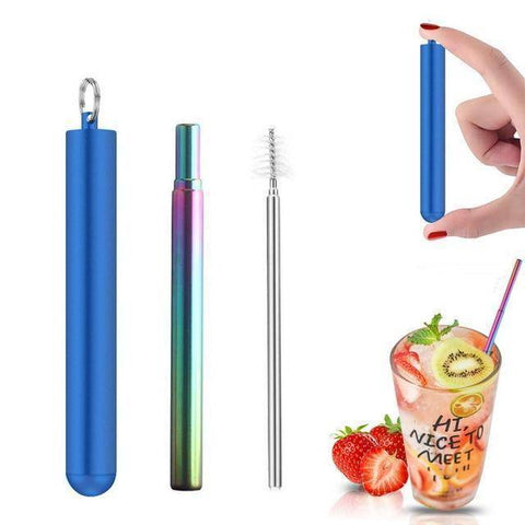 Image of Telescopic Stainless Steel Straw