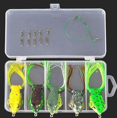 Multi Fishing Lure Tackle Box - Frog Lure 5pc - QuantumBitz
