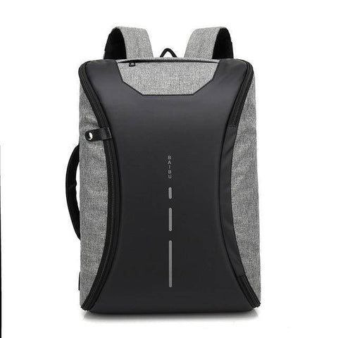BAIBU Men bag 15.6 inch Laptop Backpack Multifunction USB Charging waterproof Travel Backpacks Unisex Fashion Casual Back
