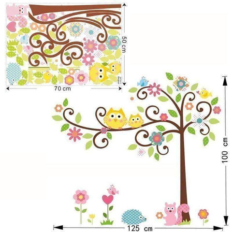 Cute Owl Wall Sticker Designs - QuantumBitz