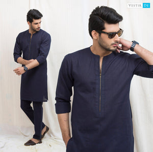 Blue Irish Cotton Kurta