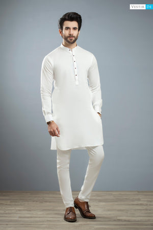 Off White Kurta Trouser