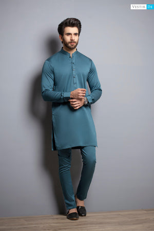Teal Kurta Trouser