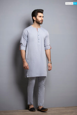 Denim Chambray Kurta Trouser