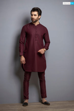 Mehroon Kurta Trouser