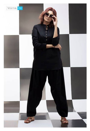 Black Kurti With Shalwar
