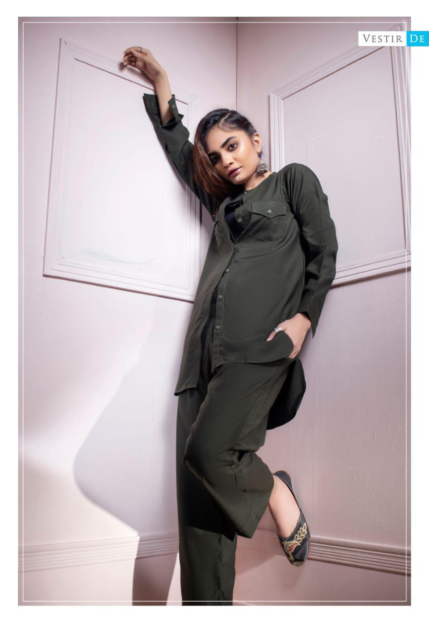 Green Magzi Shirt With Trouser
