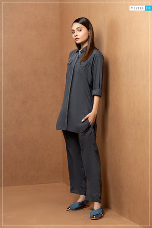 Charcoal Shirt Collor With Trouser