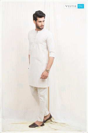 Beige Magzi Kurta With Trouser