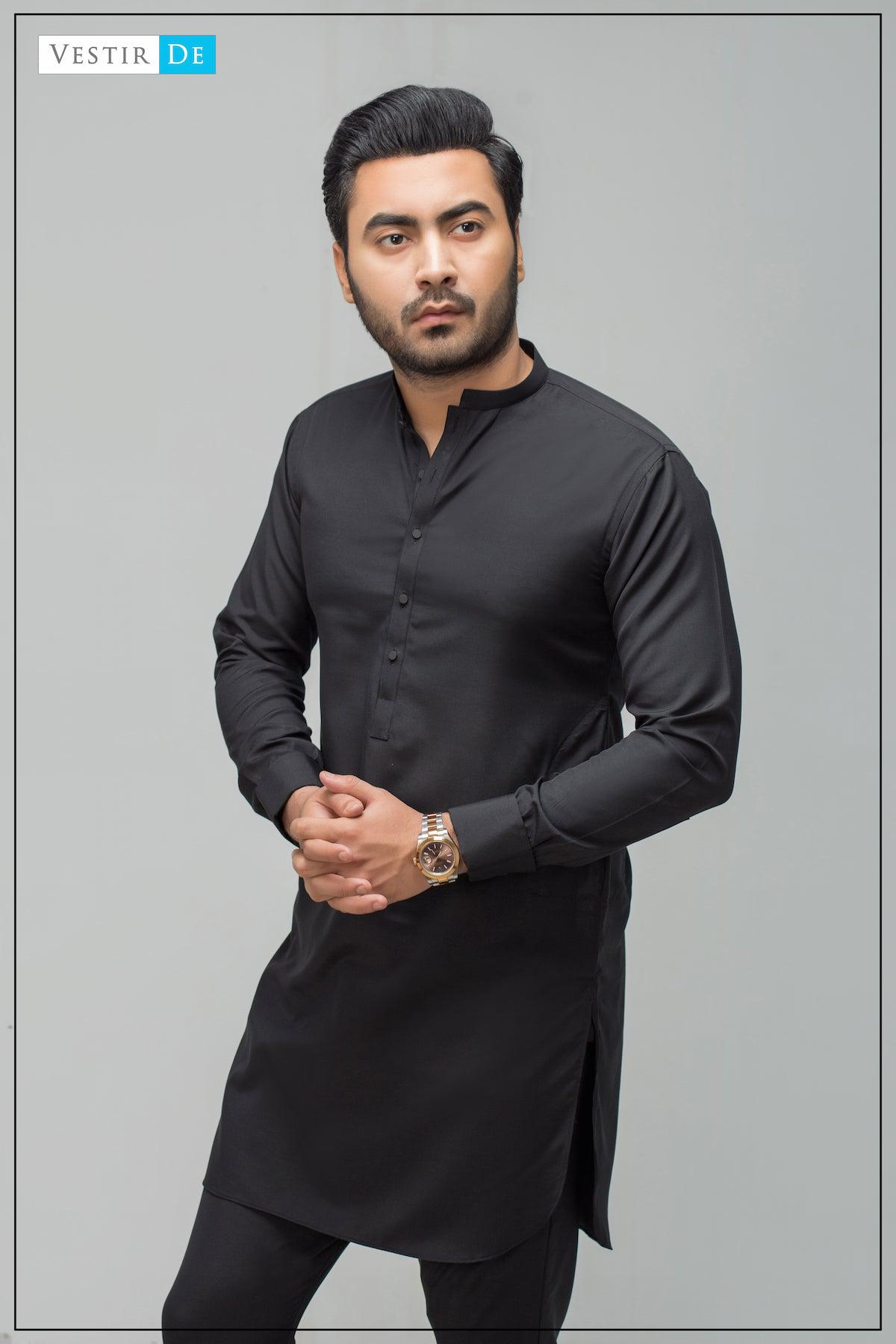 Black Boski Kurta Trouser