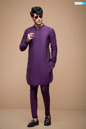 Purple Textured Cotton