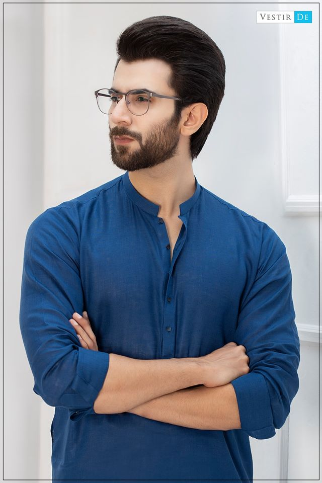 Irish Blue Kurta With Trouser - Vestir De