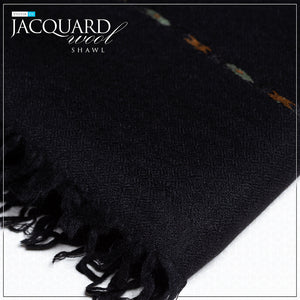 Jacquard Wool Shawl