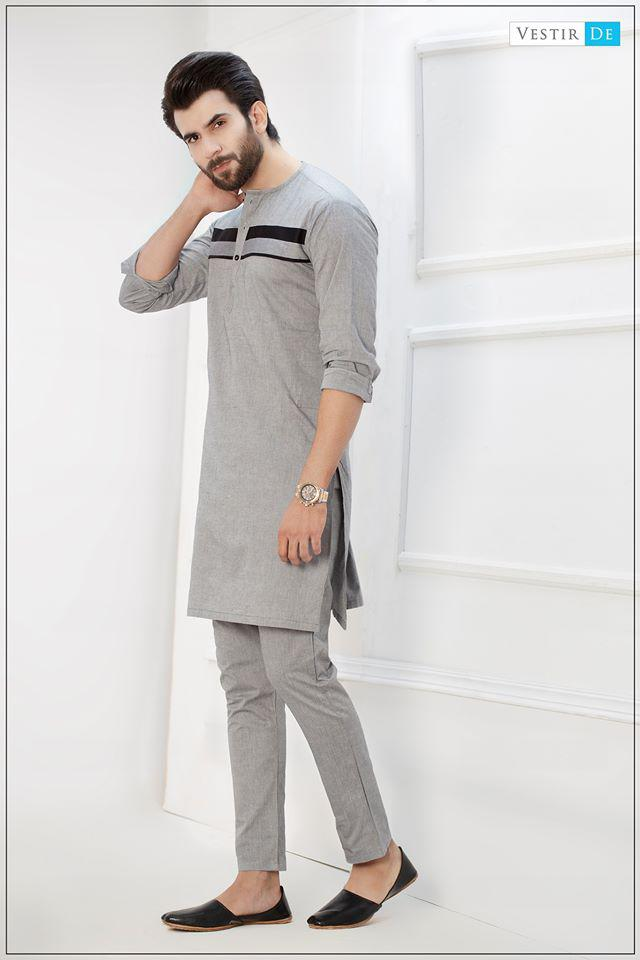 Grey Magzi Kurta With Trouser
