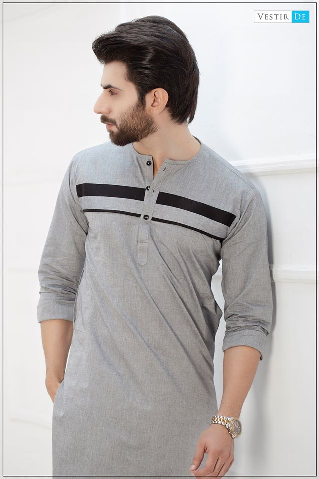 Grey Magzi Kurta With Trouser - Vestir De