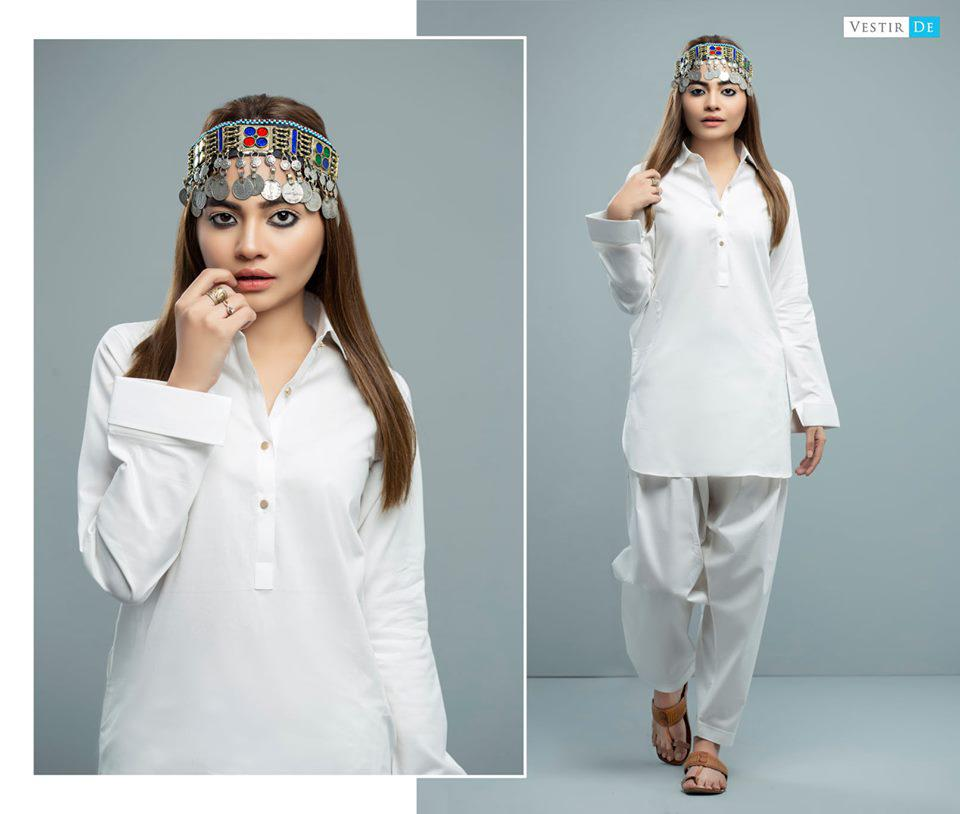 White Cotton Shalwar Kameez