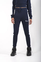 Cheemozé Women's Embroidered Midnight Blue Tracksuit
