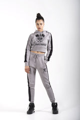Cheemozé Women's Smoke Grey Crop Tracksuit