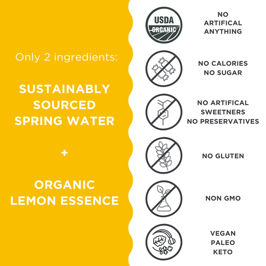 Organic Lemon | 11.2 fl oz | 24 Pack - JUST WATER