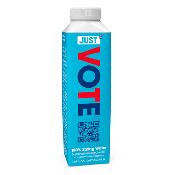 JUST VOTE 100% Spring Water <br> 16.9 fl oz | 24 Pack
