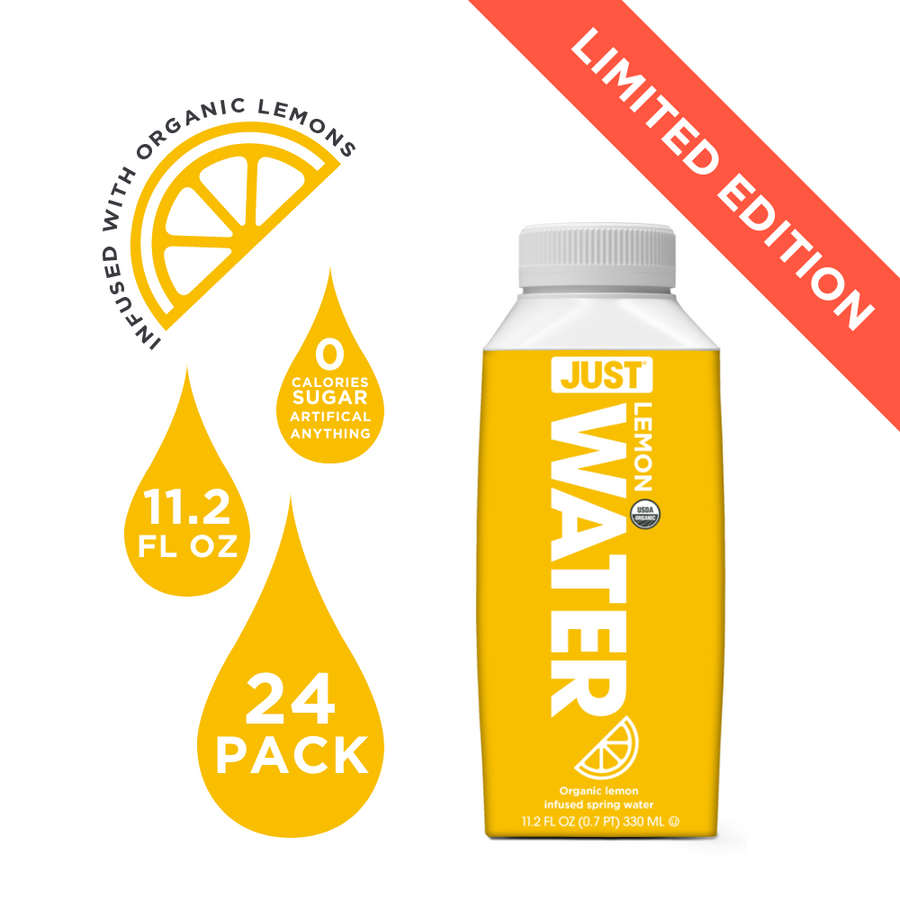 Organic Lemon <br> 11.2 fl oz | 24 Pack - JUST WATER