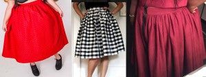 Can you tell the difference in pattern between these three skirts?