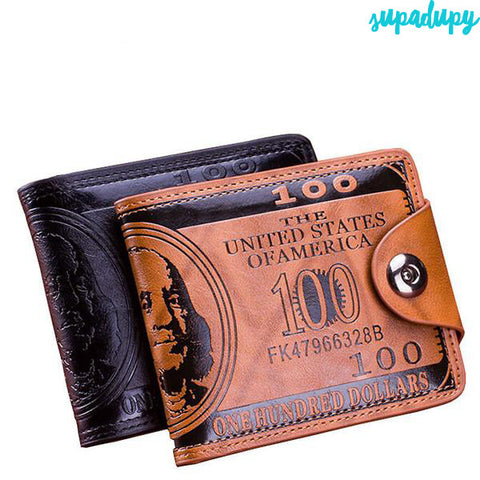 PU Leather Dollar Bill Wallet