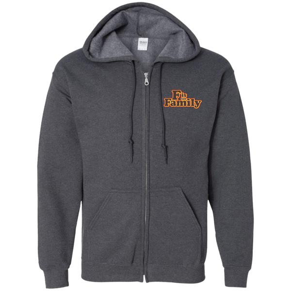 FIFF - Embroidered Zip Up Hooded Sweatshirt
