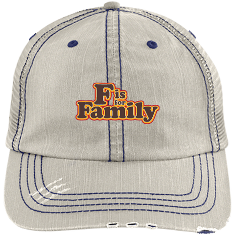 FIFF - Distressed Unstructured Trucker Cap