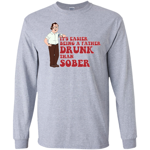 Drunk Father - LS Ultra Cotton Tshirt