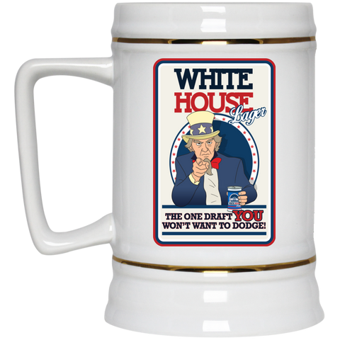 White House - Beer Stein - 22 oz