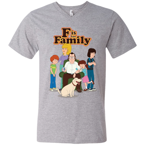 Family - Men's Printed V-Neck T