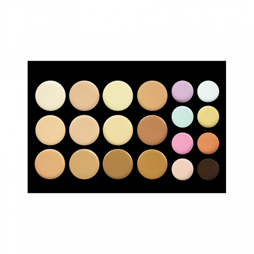 Crown Brush - 20 Colour Concealer/Contour Palette - Velvet Scarlet