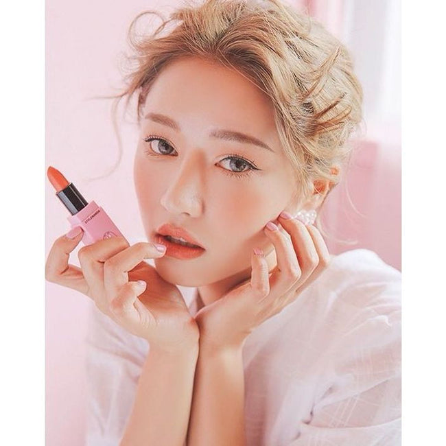 3CE - Matte Lip Color 112 Fresh Peach - Velvet Scarlet