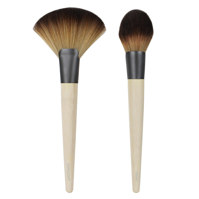 Ecotools - Define & Highlight Duo Brush Set - Velvet Scarlet