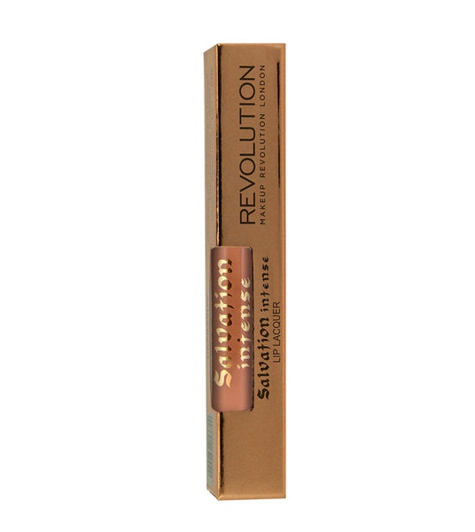 Makeup Revolution - Salvation Intense Lip Lacquer - Barely There - Velvet Scarlet