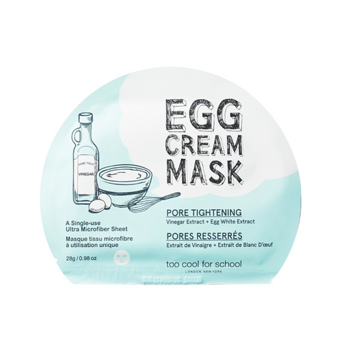 Too Cool for School - Egg Cream Mask Pore Tightening - Velvet Scarlet