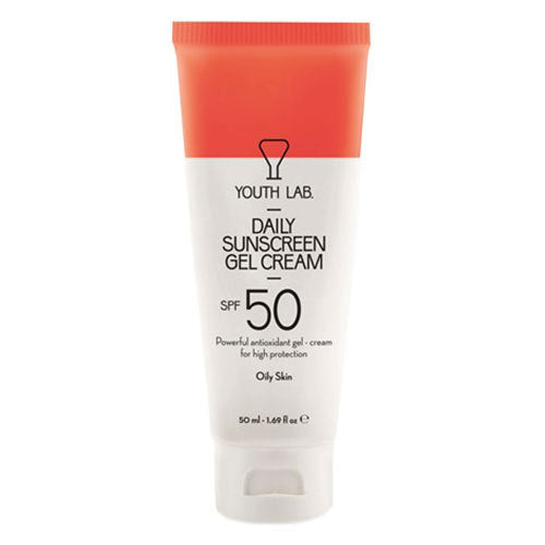 YOUTH LAB - Daily Sunscreen Gel Cream - Oily Skin - SPF 50 - Velvet Scarlet
