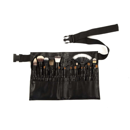 Crown Brush - 23 pc Professional Apron Make-up Set - Velvet Scarlet