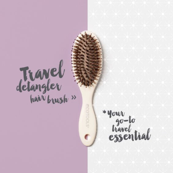 Ecotools - Travel Detangler Hair Brush - Velvet Scarlet