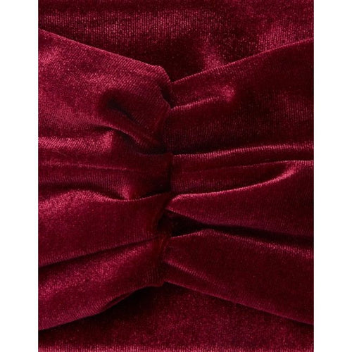 Her Curious Nature - Burgundy Velvet Hairband - Velvet Scarlet